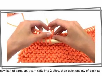 How to join a new ball of chunky yarn