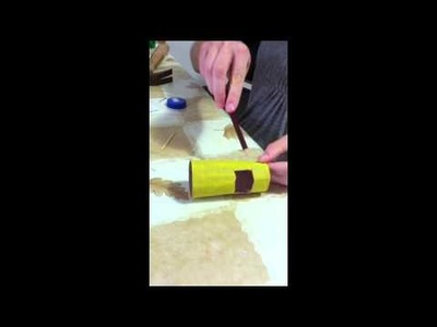 How to make a car from a toilet paper roll
