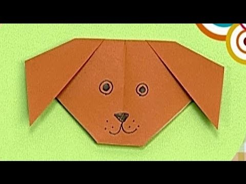 How to make a Paper Dog (Tutorial) - Paper Friends 38   Origami for Kids