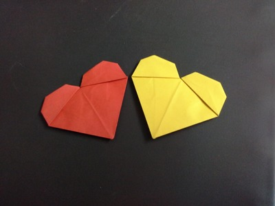 How to make a paper heart (valentine gifts) origami heart