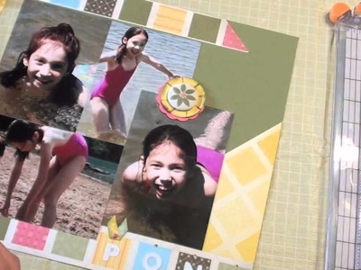 How to make a Scrapbook Double Page Layout Tutorial