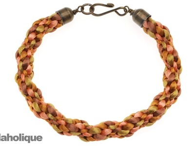 How to Make a Simple 8-Warp Kumihimo Braid Bracelet