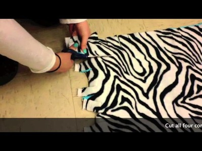 How to make a tie blanket