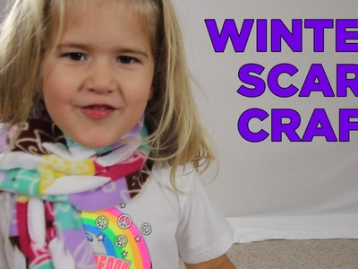 How To Make a Winter Scarf [Crafts for Kids #4]