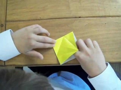 How to make an origami flower.cherry blossom