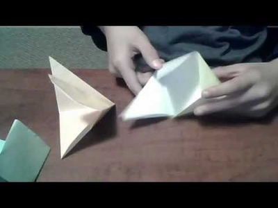 How to make an origami fortune cookie box