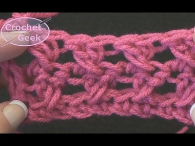 How to make the Crochet X CrossOver Stitches  - Cross Stitch Left Hand Version