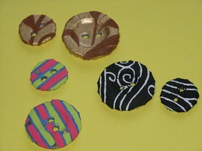 How to, Tutorial, Handmade Decorative embellishment Buttons
