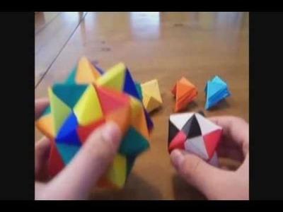 Modular Origami: Sonobe (30 units)