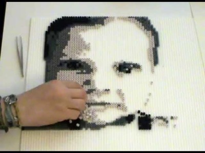 My very first perler beadsprite time-laps video - Oliver