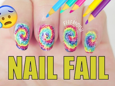 NAIL FAIL: DIY Nail Art Using Colored Pencils