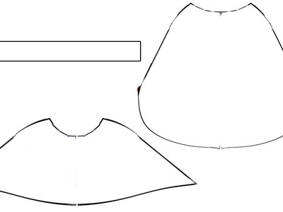 Pattern Making: How to Draft High-Low Hem Skirt Knit Fabrics