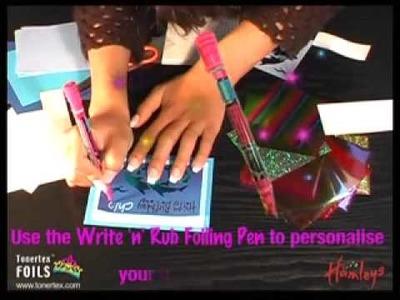 Rub-On Sticky Transfers Card Making Arts & Crafts Video with Tonertex Foils