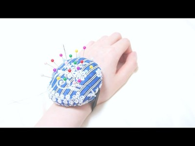 Sewing + Refashion Upcycle Old Skirt to Wrist Pin Cushion