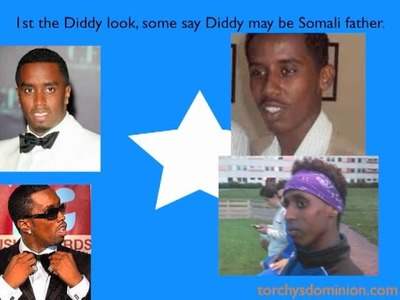 Somali.Punt people look like Diddy, Inspector Gadget and light bulb