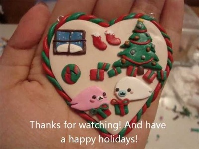 25 Days of Christmas Crafts:Polymer Clay Mamegoma Christmas Pendant