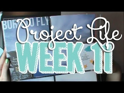 375: Week 11 Project Life 2014 Scrapbook Process using Studio Calico Office Hours & Blush Core Kit