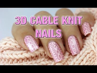 3D Cable Knit Nails with Bio Seaweed Gel | Gel Polish Nail Art