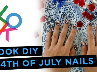 4th of July Nail Art Design Tutorial: LOOK DIY