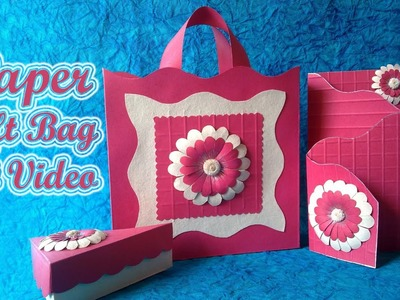 "Art & Craft: How to Make ""Origami Gift Bags"" using Paper Art Quilling -Quilling Made Easy"