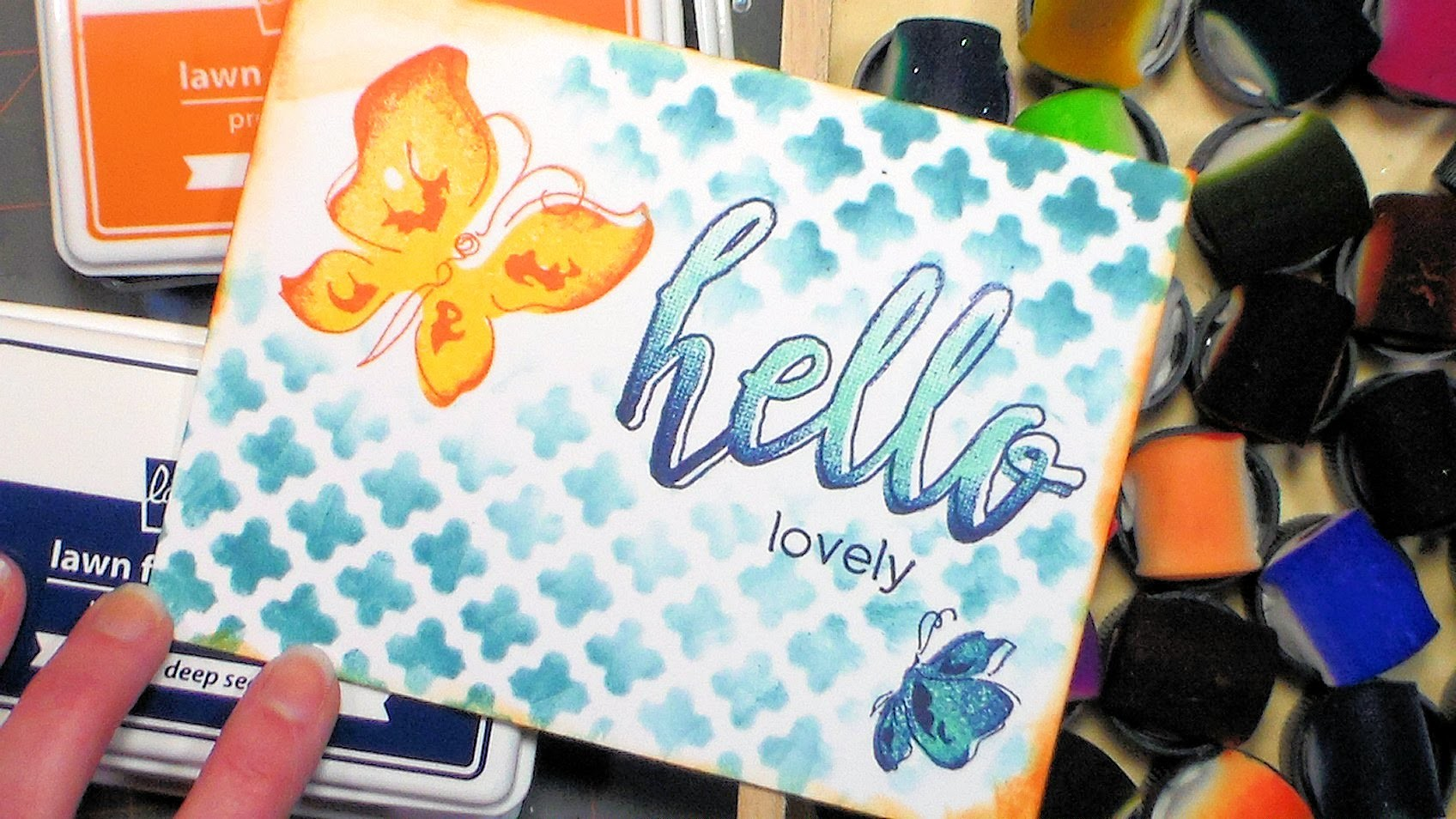 Butterfly Hello One Layer Quick Card Tutorial