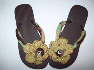 Cafe Crochet Designs Customized Crochet Flip Flops