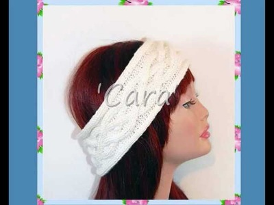Cara Cable Ear Warmer Head Wrap Head Band Teen Ladies Knitting Pattern