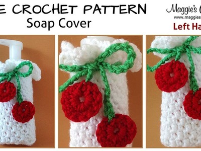 Cherry Soap Dispenser Cover Free Crochet Pattern - Left Handed