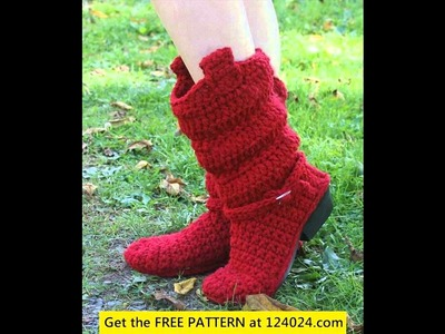 Crochet boots for women tutorial