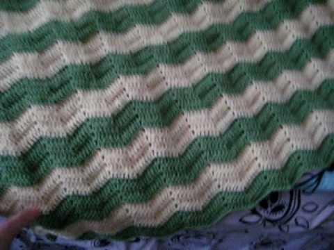 Crochet Zig Zag baby blanket