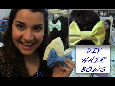 DIY Hair Bow Inspired by American Apparel:NO SEW
