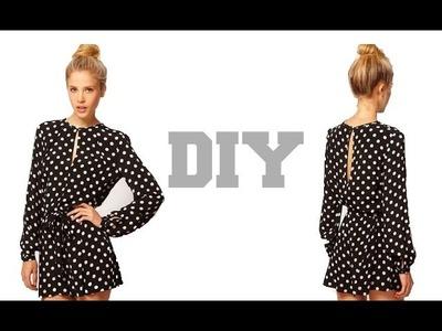 DIY Long Sleeves Jumpsuit Shorts( Easy Sewing)