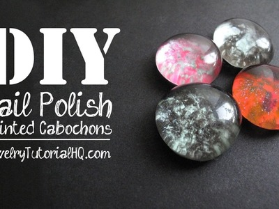 DIY Nail Polish Painted Cabochons, for Jewelry Making or Magnets