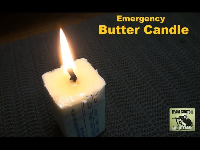 DIY Survival Butter Candle