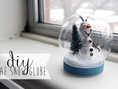 ❄ DIY: Waterless Frozen Olaf Snowglobe (Gift Idea) ❄
