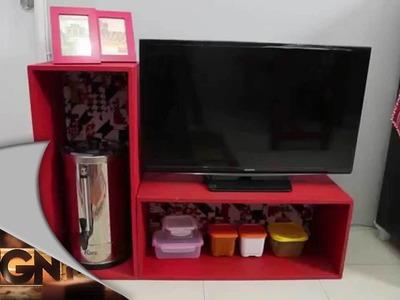 Dsign - Make Ove Red Modern Ethnic Living Room Kitchen - Part 2