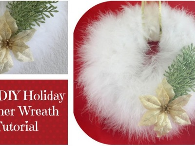 ♥ Easy DIY Feather Wreath ♥