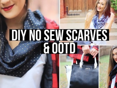 Easy DIY No Sew Infinity Scarves + Fall OOTD! | LaurDIY