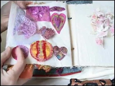 Fabric Journal Part 3 - Scrapbook for Stitch.flv