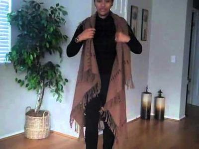 FASHION du jour   How To Make A Scarf Dress DIY