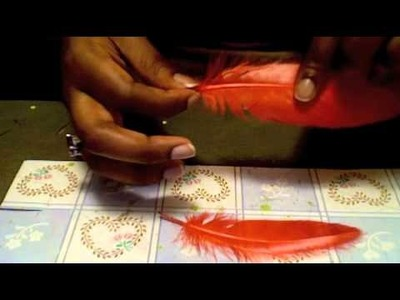 Feather earring tutorial