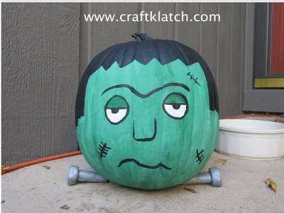 Frankenstein Pumpkin Halloween Craft