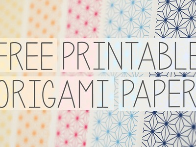 Free Printable Origami Paper - Paper Crystal
