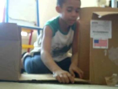 Fun Crafting: Making a cardboard car.