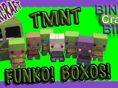 Funko Boxos Teenage Mutant Ninja Turtles Papercraft TMNT Playset by Bins Crafty Bin!!!