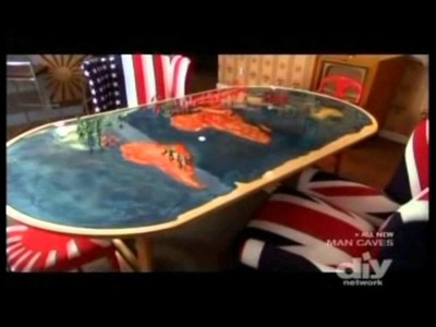 Globe Table On DIY Network's Man Caves