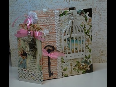 Graphic 45 Secret Garden Scrapbook and Gift Tag