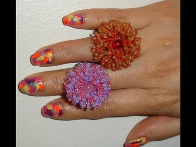 Handmade Jewelry: Coral Flower Ring