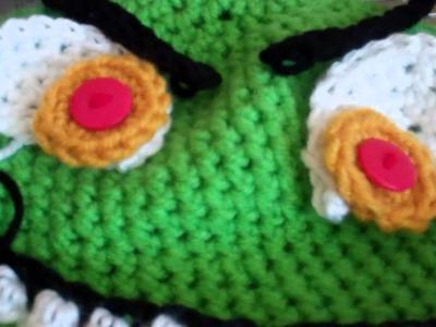 How to Crochet a Monster Beanie Tutorial Part 4