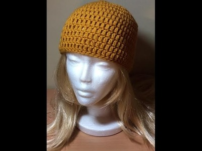 How to Crochet a Simple Beanie Tutorial.Updated